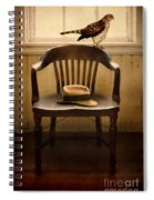 Hawk And Fedora On Chair Spiral Notebook