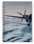Hawker - Airplane On Ice Spiral Notebook