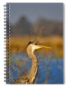 Hawking Heron Spiral Notebook