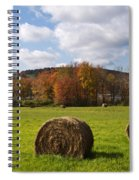 Hay Bale In Country Field Spiral Notebook