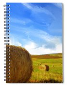Hay Bales 2 Spiral Notebook