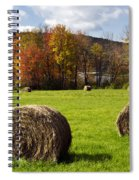 Hay Bales And Fall Colors Spiral Notebook
