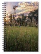 Hay Field Sunset Spiral Notebook