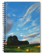 Hay Rolls On The Farm Series One In Westmoreland County Pennsylvania Spiral Notebook