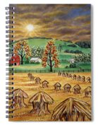 Hay Stacks Spiral Notebook
