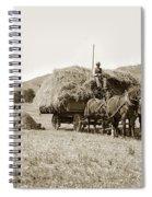 Horse-drawn Hay Wagon Carmel Valley California Circa 1905 Spiral Notebook
