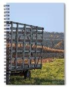 Hay Wagon In Field Spiral Notebook