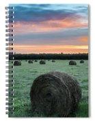 Hayfield Sunrise 3d21735 Spiral Notebook
