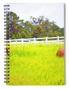 Hayrolls And Fences Spiral Notebook