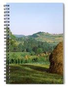 Haystack At The Hillside, Transylvania Spiral Notebook