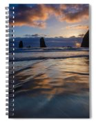 Haystack Rock And The Needles Spiral Notebook