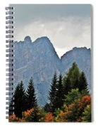 Haze And The Dolomites Spiral Notebook