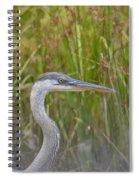 Hazy Day Heron Spiral Notebook