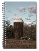 Hdr Image The Farmers Silo Spiral Notebook