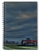 Hdr Print Red Tattered Barn Spiral Notebook