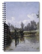 The Lake In Friesland Spiral Notebook