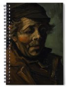 Head Of A Peasant With Cap Spiral Notebook