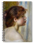 Head Of A Young Woman Spiral Notebook