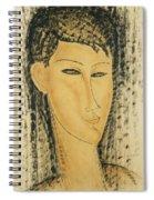 Head Of A Young Women Spiral Notebook