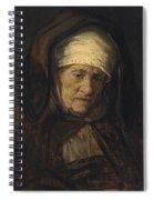 Head Of An Aged Woman Spiral Notebook