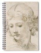 Head Of An Angel Spiral Notebook
