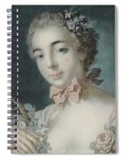Head Of Flora Spiral Notebook
