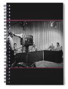 Head Of Production Lowell Cable Cameraman Panel  Kvoa Tv Circa 1955 Color Added 2013 Spiral Notebook