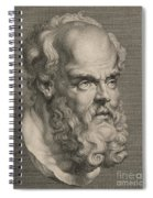 Head Of Socrates Spiral Notebook