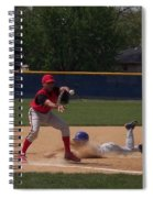Head Slide In Baseball Spiral Notebook