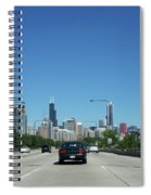 Heading North On Lake Shore Drive In Chicago Spiral Notebook