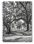 Heading South Bw Spiral Notebook