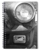 Headlight Of The Past Spiral Notebook