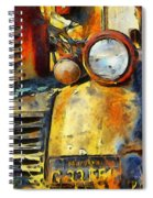 Headlight On A Retired Relic Abstract Spiral Notebook