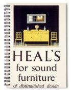 Heals Sound Furniture Advertisement Spiral Notebook