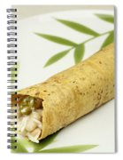 Healthy Burrito On A Plate Spiral Notebook