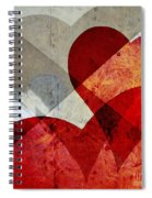 Hearts 8 Square Spiral Notebook