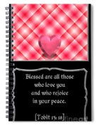 Heart And Love Design 15 With Bible Quote Spiral Notebook