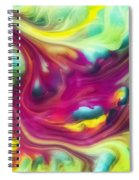 Heart Attack Watercolor Abstraction Painting Spiral Notebook