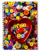 Heart Bowl With Buttons Spiral Notebook