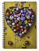 Heart Box Full Of Marbles Spiral Notebook