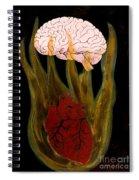 Heart Cooks Brain Spiral Notebook