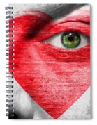 Heart Face Spiral Notebook