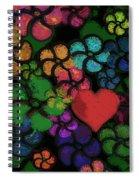 Heart In Flowers Spiral Notebook