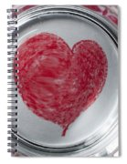 Heart In Mug Abstract 1 B Spiral Notebook