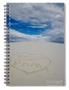 Heart In The Sand Spiral Notebook