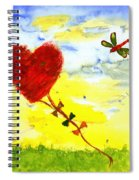Heart Kite Spiral Notebook