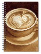 Heart Latte II Spiral Notebook