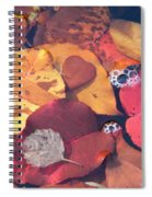 Heart Leaves Spiral Notebook