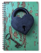 Heart Lock And Key Spiral Notebook