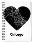 Heart Map Chicago Spiral Notebook